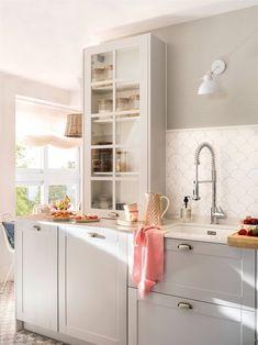 Decor, House Styles, Kitchen Dining, Home Deco, Pretty House, Kitchen Design, Home Decor, Kitchen Cabinets, Smart Kitchen