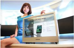 Samsung has launched a pair of new displays for commercial use, offering an integrated display case using a transparent panel and a square, stackable screen with a thin bezel. Transparent Screen, Transparent Design, Latest Gadgets, Tech Gadgets, Display Screen, Display Case, Deadpool, Invisible Screen, Video K