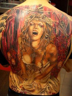 Realism Movies Tattoo by Miguel Bohigues - http://worldtattoosgallery.com/realism-movies-tattoo-by-miguel-bohigues-10/