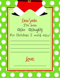 Free Printable Santa Letter By Dimpleprints  Christmas