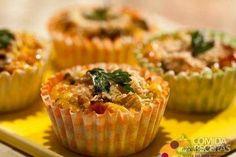 Receita de Muffin de abobrinha em Salgados, veja essa e outras receitas aqui!