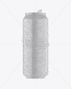 500ml Matte Aluminium Can W/ Condensation Mockup – Front View