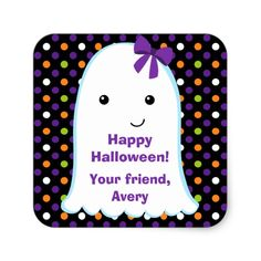 Look at these adorable Ghost Girl Halloween Supplies, Halloween Inspo, Halloween Party Favors, Halloween Invitations, Halloween Gifts, Halloween Cards, Spooky Halloween, Halloween Themes, Happy Halloween