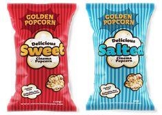 Packaging of the World: Creative Package Design Archive and Gallery: Golden Popcorn Redesigned