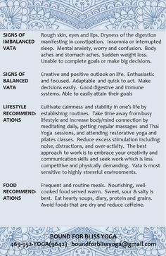 Ayurveda VATA - Learn about VATA 2 (2), see link: http://www.foodpyramid.com/ayurveda/vata-dosha/ #vata #dosha #ayurveda