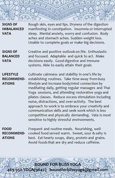 Vata Dosha Characteristics