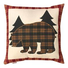 Tartan bear pillow