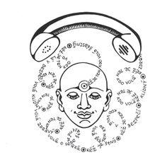 METTA meditation - illustrations by Martina Tóthová, via Behance