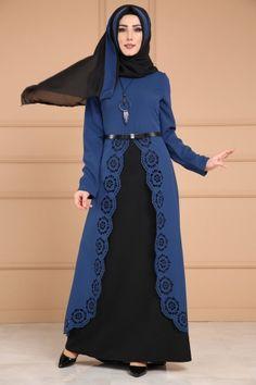 ** YENİ ÜRÜN ** Lazer Kesim 2 li Elbise Kombin İndigo Ürün Kgamisodu: BNM00316 --> 119.90 TL Modest Fashion Hijab, Abaya Fashion, Cardigan Fashion, Muslim Fashion, Fashion Outfits, Fashion Fashion, Fashion Women, Hijab Dress Party, Special Dresses