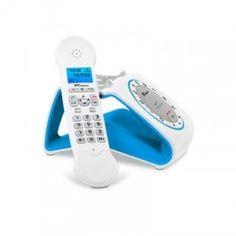 SPC 7704A Teléfono DECT Retro AG50 ML ID Blco/Azu