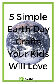 These fun Earth Day crafts will help your kids learn more about the Earth and just how important it is that we care for this home we all share.