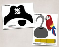 Pirate Photo Booth Props - Printable for Pirate Party Fun