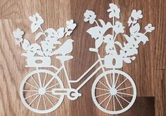 Bike with flowers Glass Painting Designs, Paint Designs, Easter Art, Easter Crafts, Wood Projects, Projects To Try, Diy And Crafts, Crafts For Kids, Paper Cutting Patterns