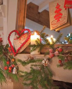 Christmas Season Mantel Decor