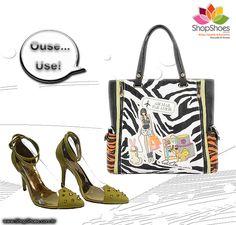 Scarpin Cristal com Spikes e Bolsa by Patrícia Maranhão  www.shopshoes.com.br