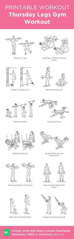 Women's Gym Legs Workout. #GymWorkoutPlans