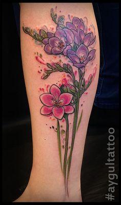 rose and freesia tattoo - Google zoeken