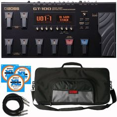 Boss Gt-100 Effects Processor Stage Bundle GT100 Gator Case, Strings, Cables by BOSS. $564.95