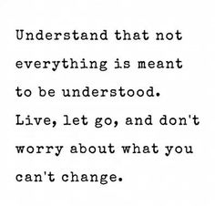 Life happens, embrace and accept it!