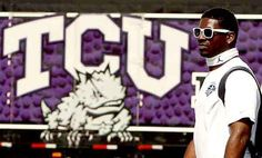 Great Horned Frogs! It's future Hall of Famer LaDainian Tomlinson, who ran wild for Texas Christian when it was a member of the Western Athletic Conference. (Richard W. Rodriguez / McClatchy-Tribune / June 22, 2012)