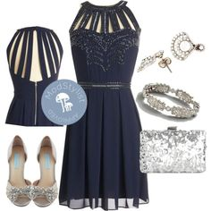 Spring formals are on the horizon and this navy sequined dress certainly fits the bill!
