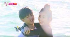 Red Velvet's Joy and BTOB's Sungjae take a dip at the beach on 'We Got Married' | http://www.allkpop.com/article/2016/01/red-velvets-joy-and-btobs-sungjae-take-a-dip-at-the-beach-on-we-got-married