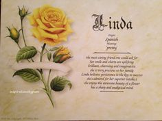 Personalized Linda first name meaning art by inspirationsbypam on Etsy . Save 10% with code: Pinterest10 thru 12-31-16.
