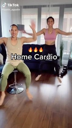 Cardio Workout At Home, Gym Workout For Beginners, Gym Workout Tips, Workout Videos, At Home Workouts, Senior Workout, Cardio Workouts, Fitness Workouts, Fitness Workout For Women