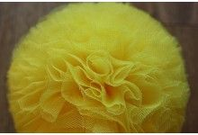 yellow tulle pompom
