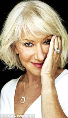 Helen Mirren - gorgeous, talented, hard-working, dominating, authentic. This is the role model for aging.