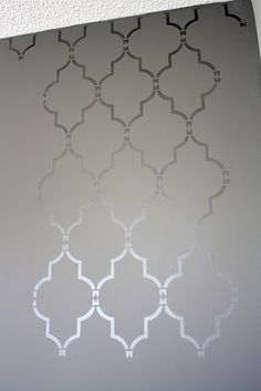 stencil with glossy paint