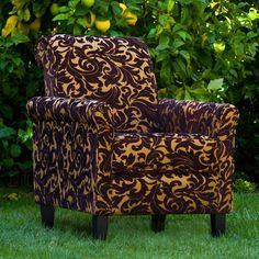 angelo:HOME Harlow Chair - Java Brown Velvet