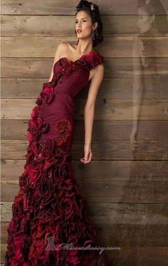 Mac Duggal 80108D Dress - MissesDressy.com  Shop it here: http://www.missesdressy.com/dresses/designers/mac-duggal/mac-duggal-couture/80108d #eveninggown #eveningdress #red #rosette #floral #flowers #oneshoulder #shopping #gown #dress