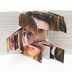 Nice range of artists' book on this link 1 in 3 by Jaime Shafer Handmade Books, Altered Books, Art Forms, Book Design, Paper Art, Book Art, Flag, Typography, Art Journaling