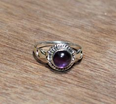 925 Silver Natural Amethyst Gemstone Ring / by gemsnjewelryworld