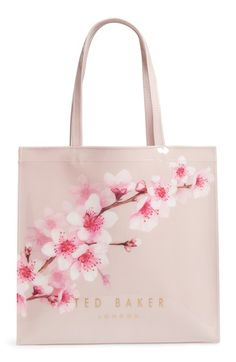 TED BAKER LARGE ICON - PAMMCON SOFT BLOSSOM TOTE - PINK. #tedbaker #bags #hand bags #tote #