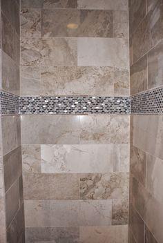 Royal Amber Marble and Miramar Glass Mix Mosaic