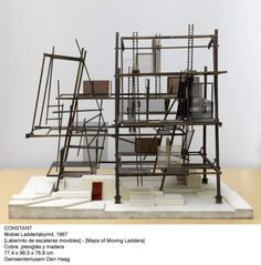 Constant Nieuwenhuys, Maze of Moving Ladders, 1967