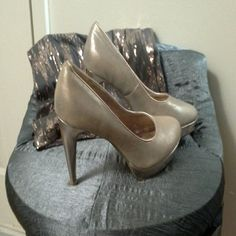 "Rampage champagne high heel pump Rampage champagne high heel pump 4"" heel. Size 11. Brand new never worn. Rampage Shoes"