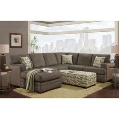 Chelsea Home Furniture Northborough Sectional Sofa | from hayneedle.com