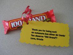 Teacher/bus driver gift