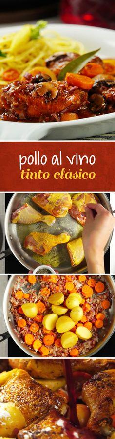 Aprende a preparar el clásico de la cocina francesa: coq au vin o pollo al vino tinto. Esta receta fácil te guiará en el paso a paso para quedar como un profesional en tu cena romántica.