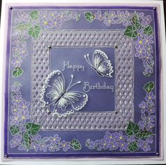 Parchment Cards, Grid Design, Crafts To Make, Barbara Gray, Projects To Try, Happy Birthday, Activities, Clarity, Floral
