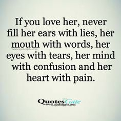 If you love her...