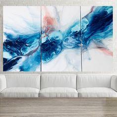 Fluid art abstract painting original art resin painting | Etsy Blue Abstract Painting, Abstract Watercolor, Diy Resin Art, Acrylic Pouring Art, Original Paintings, Original Artwork, Art Projects, Acrylic Canvas, Acrylic Box
