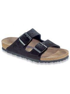 9bfbe210db809 Birkenstock - Arizona Suede Soft Footbed Sandals - Black