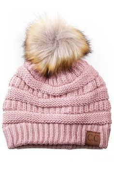 Buy online CC Beanies & scarves from brand CC Exclusives. Choose from over 50 colors of C. Beanies in this cable knit hat. From slouchy to pom pom or with fur, find the C.C beanie hat to match your style. Youth size CC Beanie hats also available. Pom Pom Beanie Hat, Cc Beanie, Knit Beanie, Beanie Hats, Beanies, Cc Hats, Knitted Hats, Crochet Hats, Faux Fur Pom Pom
