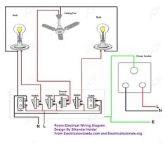 Electric House Wiring Diagram Also Residential Electrical Diagrams Simple Wire In Types Of Electrical Wiring, Electrical Wire Connectors, Electrical Circuit Diagram, Electrical Symbols, Electrical Layout, Electrical Plan, Electrical Projects, Electrical Engineering, Light Switch Wiring