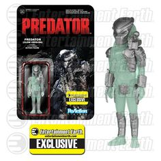 Glow-in-the-Dark Predator ReAction Figure - EE Exclusive - Funko - Predator - Action Figures at Entertainment Earth
