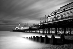 Eastbourne Pier by Dan Biggins, via Places Ive Been, Places To Go, Black And White Pictures, Surrey, Great Britain, Black And White Photography, Monochrome, Scenery, Paisajes